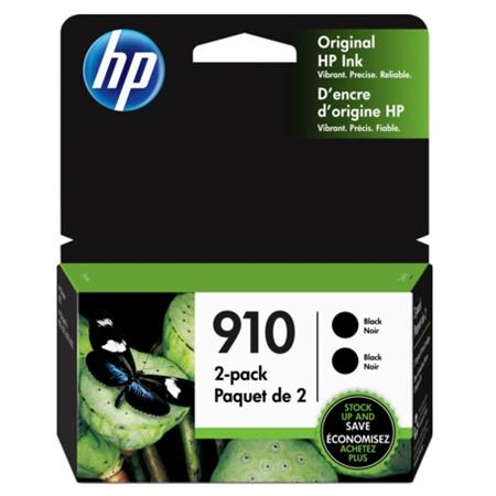 HP 910 (3JB40AN) Black Original Standard Capacity Ink Cartridges Twin Pack (2 Pack)