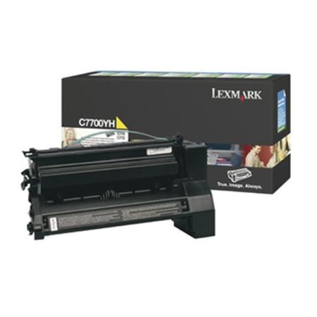 Lexmark C7700YH Original Yellow High Yield Return Program Laser Toner Cartridge