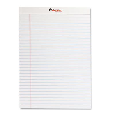 Perforated Edge Writing Pad Legal Ruled Letter White 50-Sheet Dozen