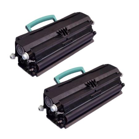 Compatible Twin Pack Black Lexmark X264A21G Toner Cartridges