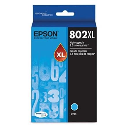 Epson T802XL Cyan Original High Capacity Ink Cartridge