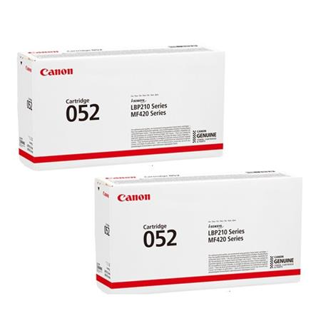 Canon 052 Black Original Standard Capacity Toner Cartridges Twin Pack