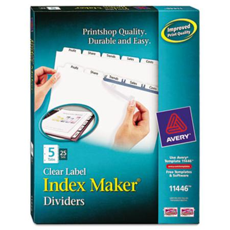 Avery Index Maker Clear Label Divider