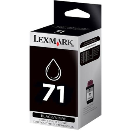 Lexmark No. 71 (15M2971) Moderate Use Black Original Print Cartridge