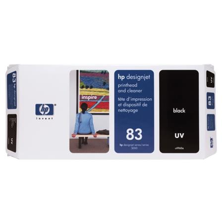 HP 83 (C4960A) Black Original UV Printhead and Cleaner