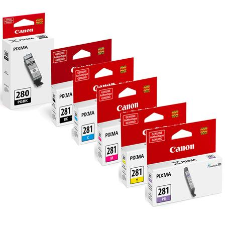 Canon PGI-280BK/CLI-281BK/C/M/Y/PB Full Set Original Ink