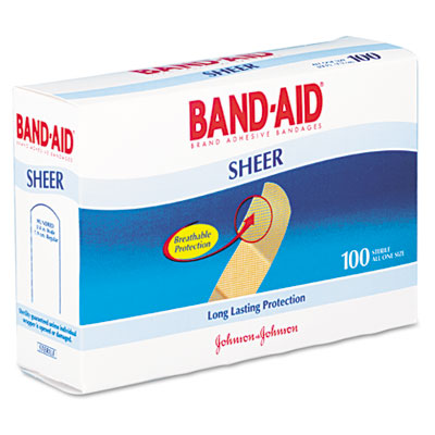 Sheer Adhesive Bandages  3/4 x 3  100/Box
