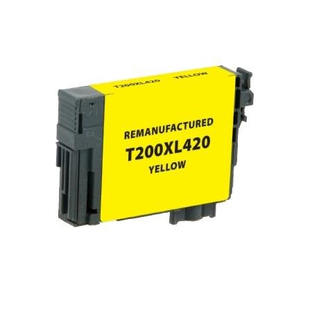Epson 200XL (T200XL420) Yellow Remanufactured High Capacity Ink Cartridge