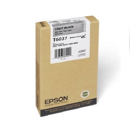 Epson T6037 (T603700) Original Light Black Ink Cartridge