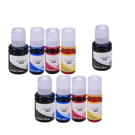 T5021/24 2 Full Sets + 1 EXTRA Black Remanufactured Ink Bottles