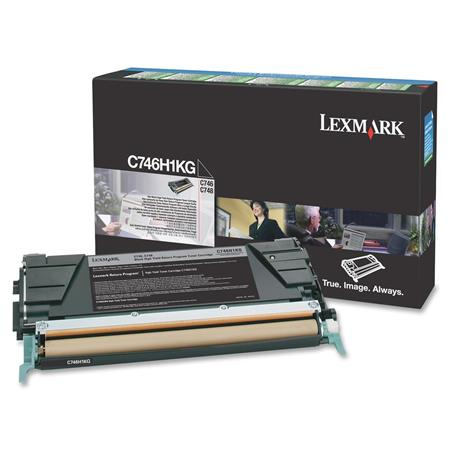 Lexmark C746H1KG Black Original High Capacity Return Program Toner Cartridge