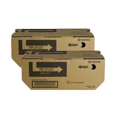 Kyocera TK-3122K Black Original Toner Cartridges Twin Pack