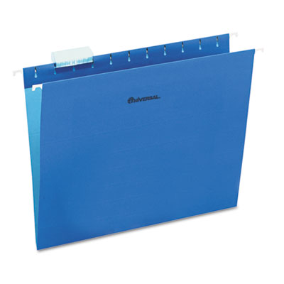 Hanging File Folders 1/5 Tab 11 Point Stock Letter Blue 25/Box