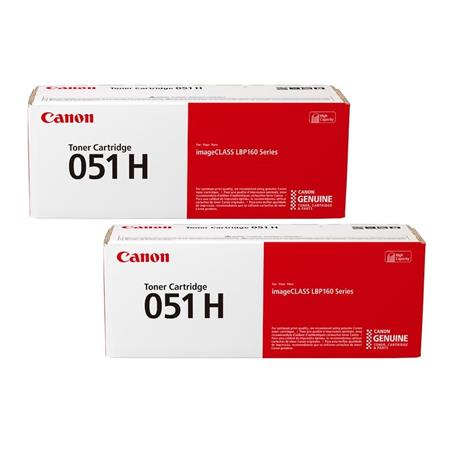 Canon 051H Black Original High Capacity Toners - Twin Pack