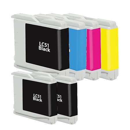 LC51BK/C/M/Y  Full Sets + 2 EXTRA Black Compatible Inks