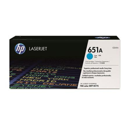 HP 651A Cyan Original Toner Cartridge (CE341A)