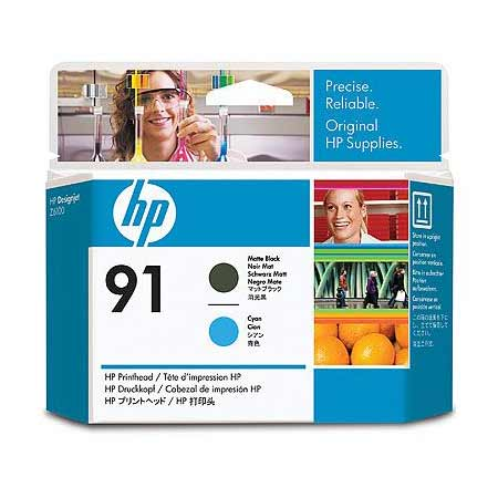 HP 91 (C9460A) Original Matte Black And Cyan PrintHead