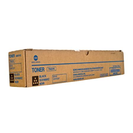 Konica Minolta TN-221K Black Original Toner Cartridge (A8K3130)