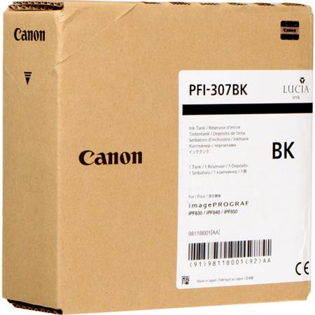 Canon PFI-307BK Black Original Standard Capacity Ink Cartridge (330ml)