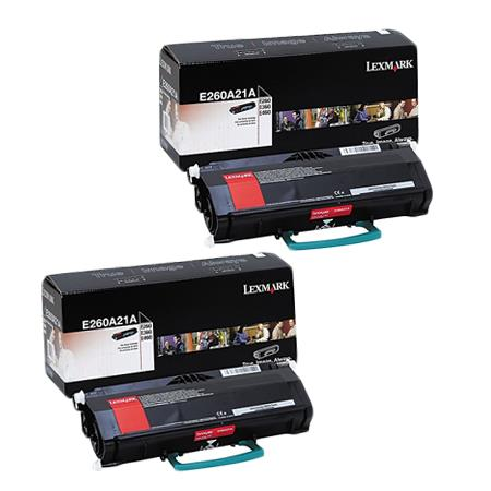 Lexmark E260A21A Black Original Toners Twin Pack