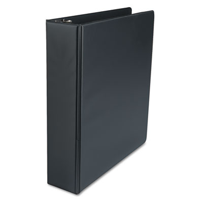 Suede Finish Vinyl Round Ring Binder 2Inch Capacity Black