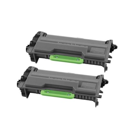 TN820 Black Remanufactured Toners Twin Pack