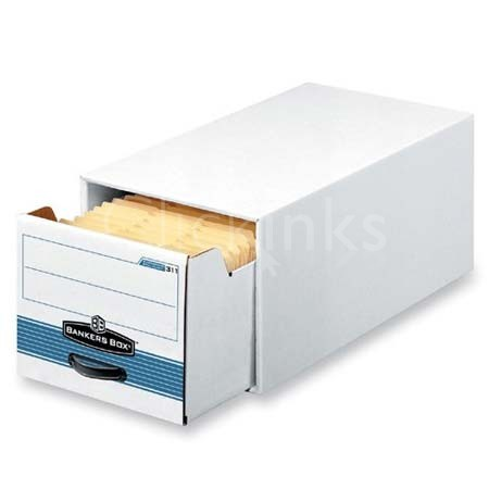 Stor/Drawer Steel Plus Storage Box  Letter  White/Blue  6/Carton