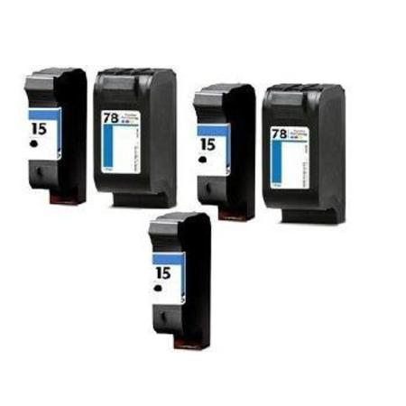 Compatible Multipack HP 15/78 2 Full set + 1 EXTRA Black Ink Cartridges