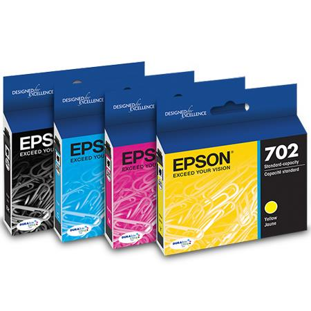 Epson 702 (T702120-BCS) Black and Colour Original Standard Capacity Ink Cartridge Multipack