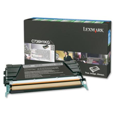 Lexmark C736H1KG Black Original High Yield Return Program Toner Cartridge