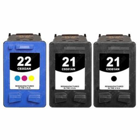 21/22 Full Set + 1 EXTRA Black Remanufactured Inks