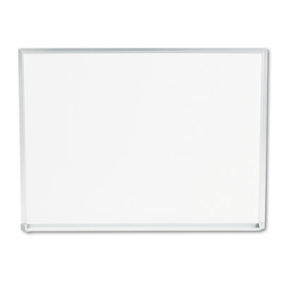 Dry-Erase Board Melamine 24 x 18 White Satin-Finished Aluminum Frame