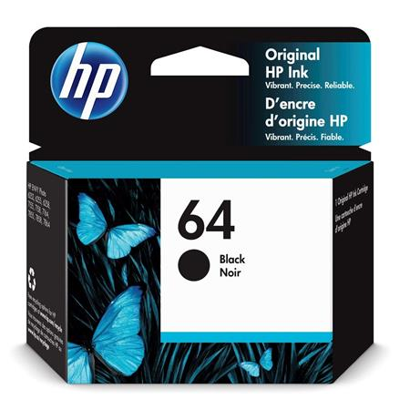 HP 64 (N9J90AN) Black Original Standard Capacity Ink Cartridge
