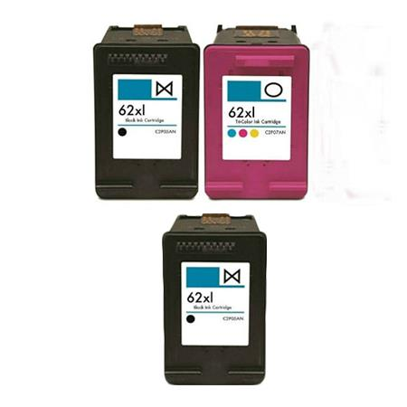 Clickinks 62XL Full Set + 1 EXTRA Black Remanufactured Inks