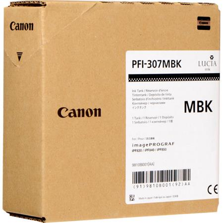 Canon PFI-307MBK Matte Black Original Standard Capacity Ink Cartridge (330ml)