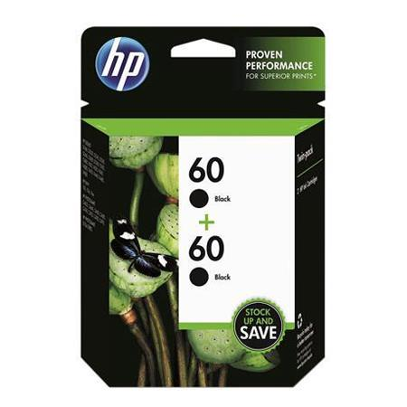 HP 60 Black Original Ink Cartridge (CZ071FN) Twin Pack