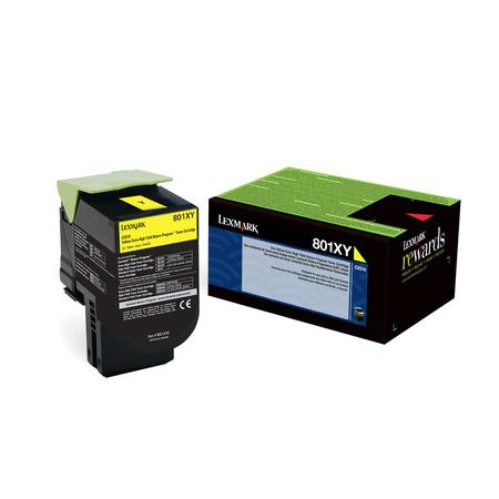 Lexmark 80C1XY0 Yellow Original Extra High Capacity Return Program Toner Cartridge