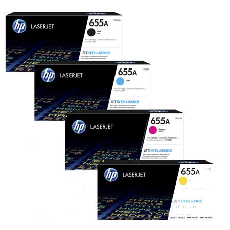 HP 655A Full Set Original Standard Capacity Toner Cartridges