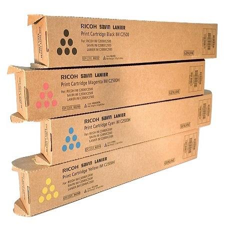 Ricoh 842251/254 BK/C/M/Y Full Set Original Toner Cartridges