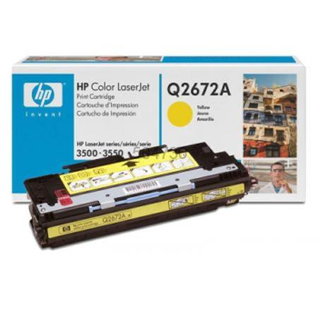 HP Color LaserJet Q2672A Yellow Original Print Cartridge with Smart Printing Technology