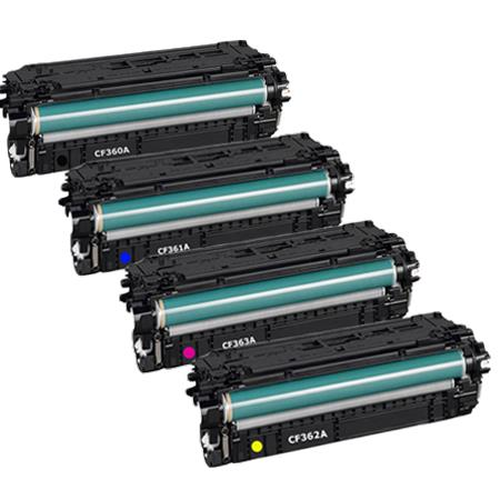 Clickinks 508A Full Set Remanufactured Standard Capacity Toner Cartridges