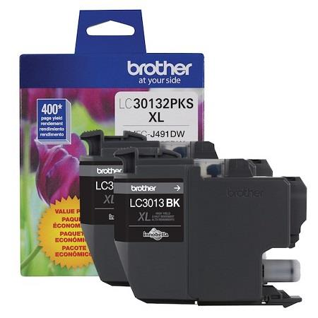 Brother LC30132PKS Black Original High Capacity Ink Cartridge Double Pack