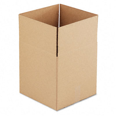 Corrugated Kraft Fixed-Depth Shipping Carton 14w x 14l x 14h Brown 25/Bundle