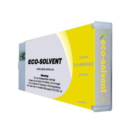 Mutoh VJ-MSINK3-YE Compatible Eco-Solvent Yellow Standard Capacity Inkjet Cartridge