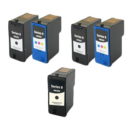 Compatible Multipack Dell MK992/MK993 2 Full Set + 1 EXTRA Inkjet Cartridges