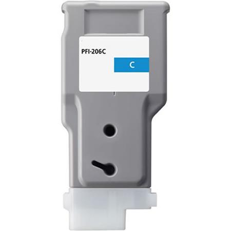 Compatible Cyan Canon PFI-206C Ink Cartridge (Replaces Canon 5304B001AA)
