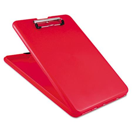 "Saunders SlimMate Storage Clipboard, 1/2"" Clip Cap, 8 1/2 x 11 Sheets, Red"