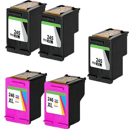 PG-245XL/CL-246XL 2 Full Sets + 1 EXTRA Black Remanufactured Ink