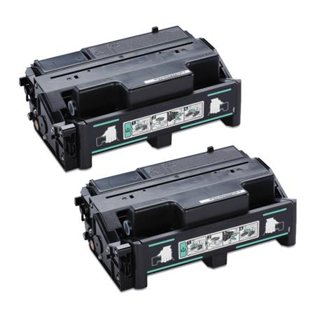 Compatible Twin Pack Black Ricoh 408161 Toner Cartridges