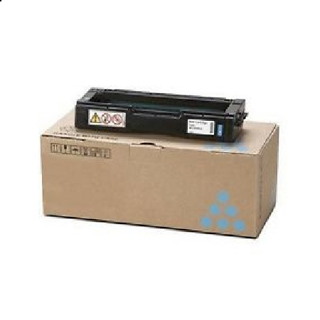 Ricoh 407654 Cyan Original Toner Cartridge